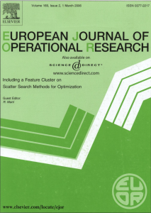 European Journal of Operational Research